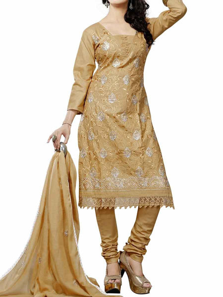 Cotton Suit From Kolkata In Gold - FPKWA9AG140
