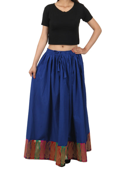 Elastic Skirt From Jaipur In Royal Blue - PJRSED28FB14