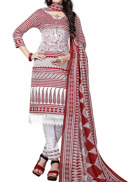 Cotton Suit From Kolkata In Red - FPKWA9AG157