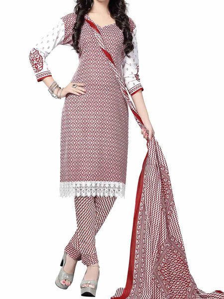 Cotton Suit From Kolkata In Red - FPKWA9AG159