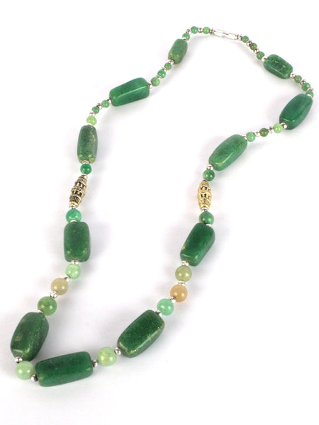 Green Agate Stone Necklaces From Khambhat In Green - SBCKGJN16JN2