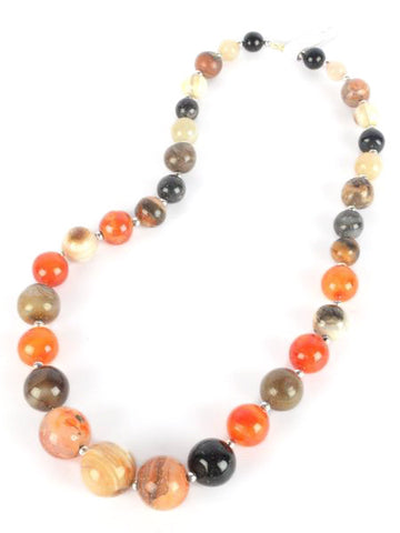 Agate Stone Necklaces From Khambhat In Multicolour - SBCKGJN16JN5