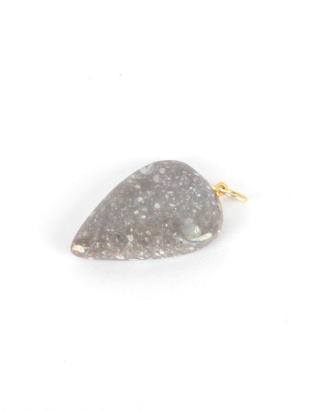 Agate Stone Pendant From Khambhat In Grey - SBCKGJP16JN4