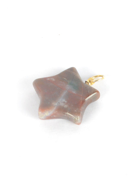 Agate Stone Pendant From Khambhat In Grey - SBCKGJP16JN5