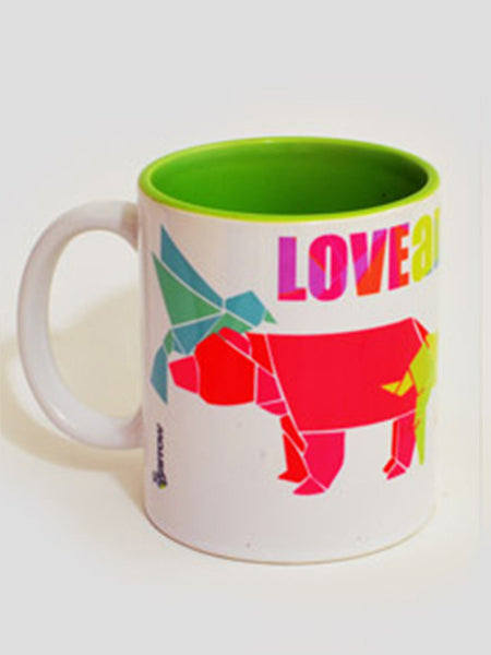 Love Animals Mug From Rajkot In Green - SO-DKC25AP16
