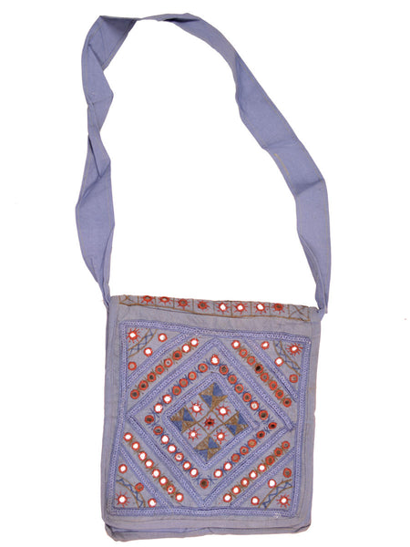 Shoulder Bag From Gujarat In Lavender Purple - SKGBS22MY25