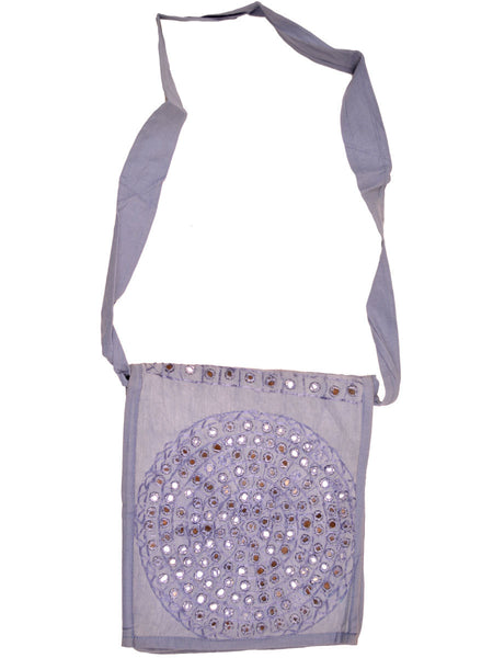 Shoulder Bag From Gujarat In Lavender Purple - SKGBS22MY8