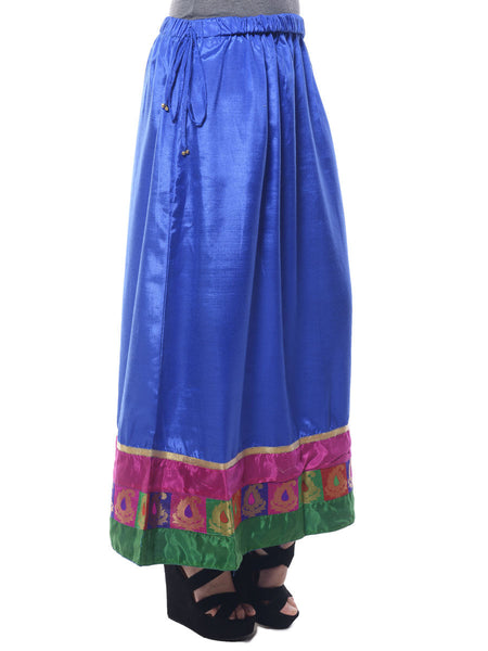 Polyster Skirt From Surat In Blue - M1-PLUSK9JN7