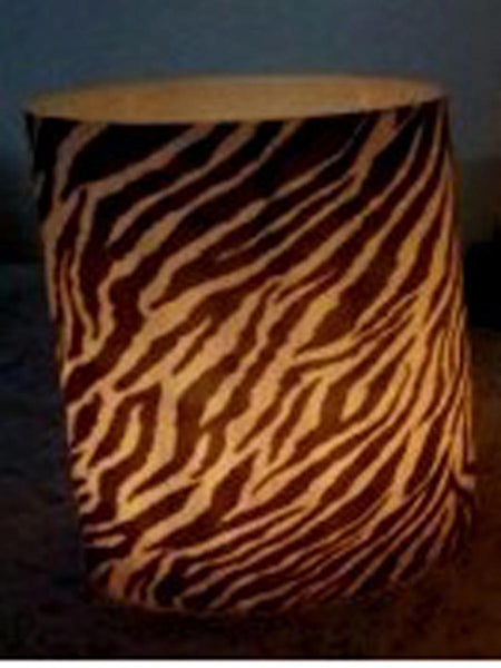 Designer wax lamp  In Black & white tiger print - RC-DKCL21SP8