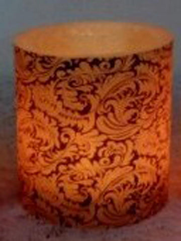 Designer wax lamp  In Beige colour lamp with floral design - RC-DKCL21SP10