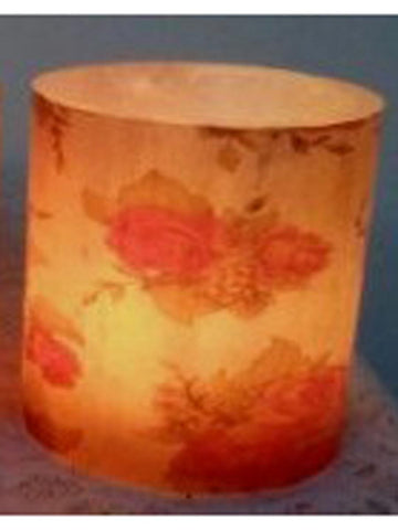Designer wax lamp  In Beige colour lamp with floral design - RC-DKCL21SP11