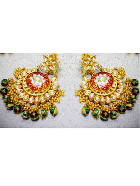 Kundan Meena Earring From Jaipur In Multicolour - LV-CJE17SP52