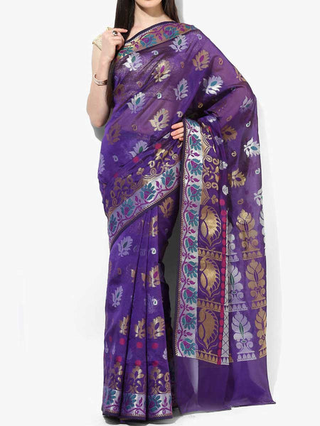 Banarasi Saree In Blue - RB-BPBUSA11JL397