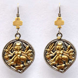 Earrings From Rajasthan In Gold Plated - CJRE9JU18