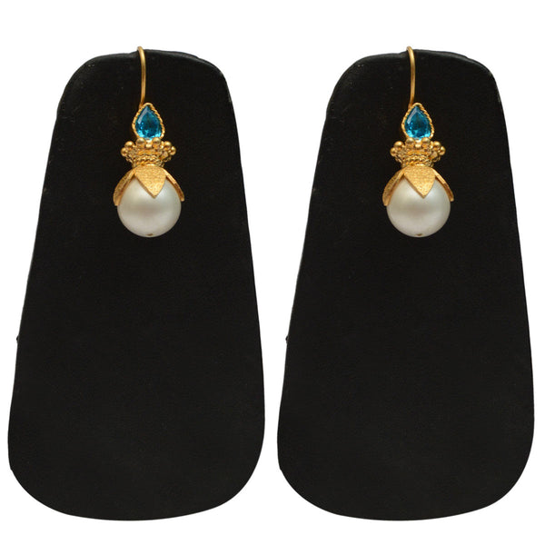 Earrings From Rajasthan In Gold plated - CJRE9JU14