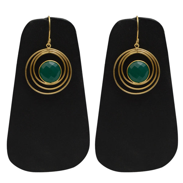 Earrings From Rajasthan In Green - CJRE9JU4