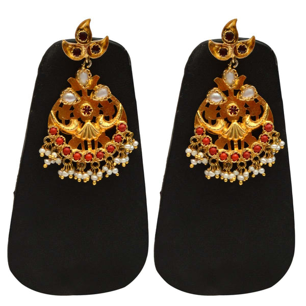 Earrings From Rajasthan In Golden - CJRE9JU1