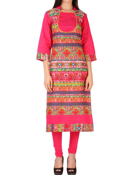 Pink Cotton kurti From Delhi - PDKN30AG13