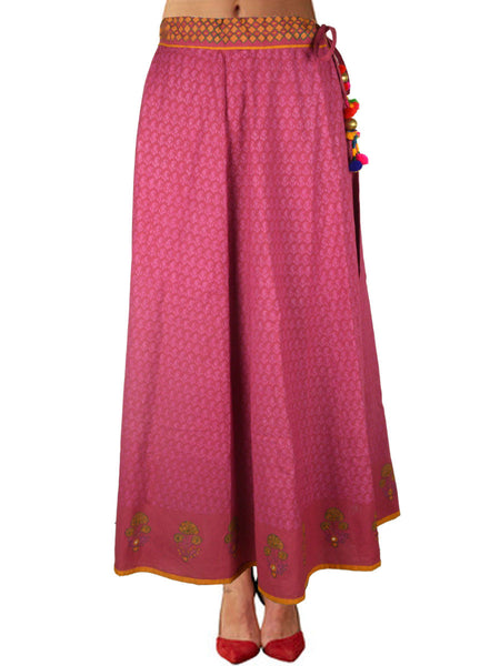 Cotton Jaipuri Printed Skirt In Thulian Pink - SM-RKBS15MH3
