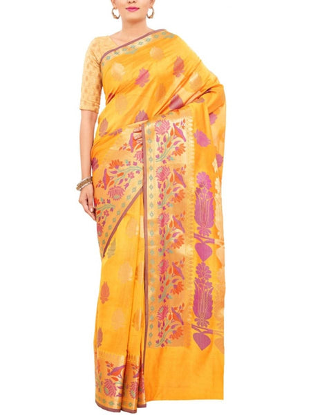 Banarasi Saree In Gold - S1-PBUSA19JN26