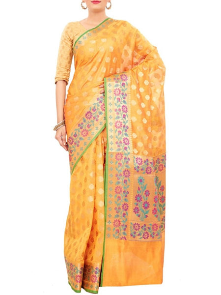 Banarasi Saree In Gold - S1-PBUSA19JN28