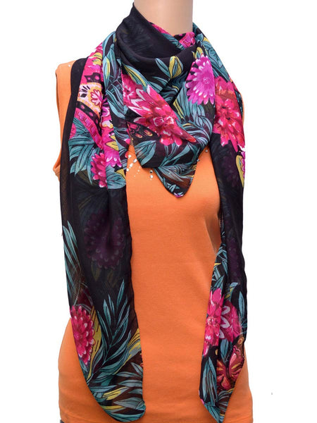 Flower Print Print Stole From Delhi - GV-CDDG7JL4