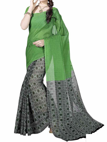 Cotton Printed  Sarees from Kolkata In Multicolor - FPKSA20JL45