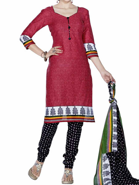 Cotton Suit From Kolkata In Red - FPKWA9AG167