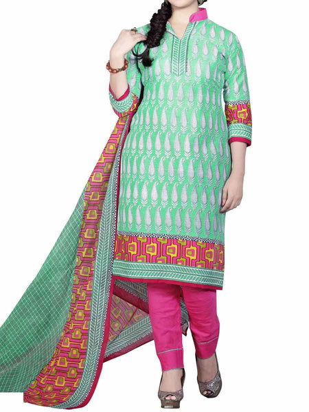 Cotton Suit From Kolkata In Green - FPKWA9AG168