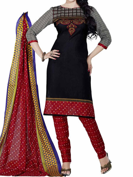 Cotton Suit From Kolkata In Black - FPKWA9AG170