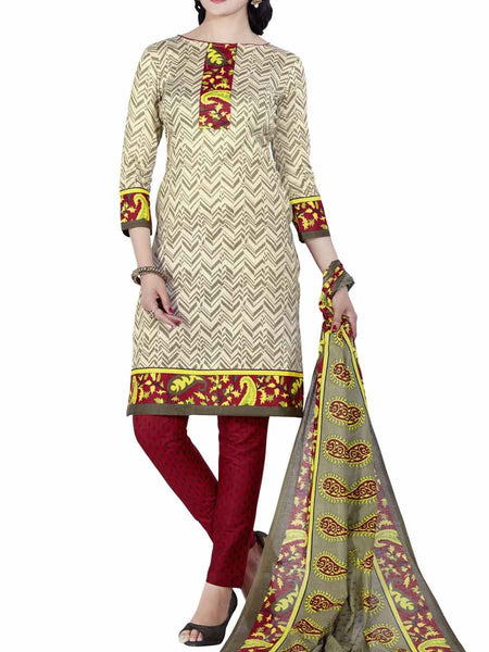 Cotton Suit From Kolkata In Multicolour - FPKWA9AG174
