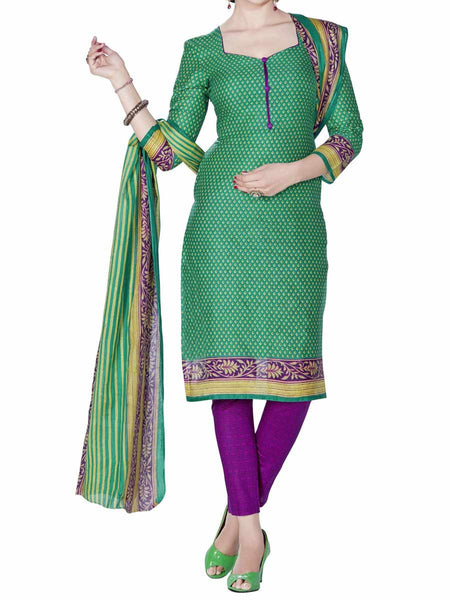 Cotton Suit From Kolkata In Green - FPKWA9AG178