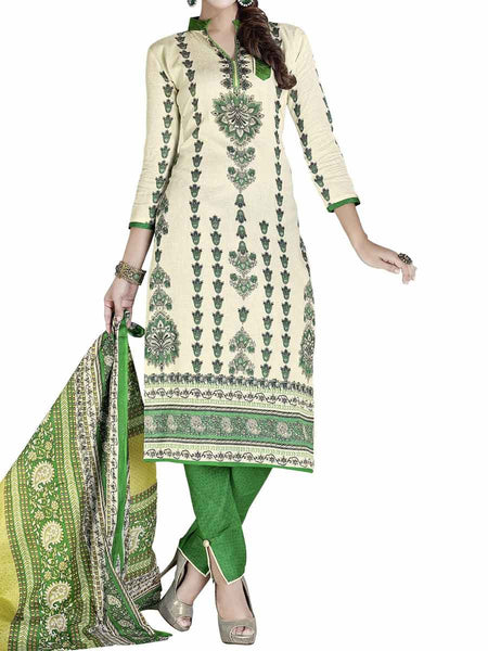 Cotton Suit From Kolkata In Beige - FPKWA9AG190