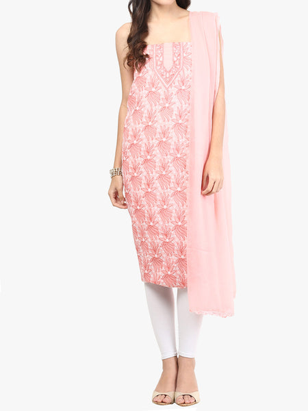 Pink Cotton Suit From Lucknow - SL-PLSU7JY37