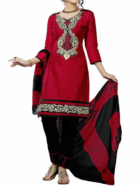 Cotton Suit From Kolkata In Red - FPKWA9AG206