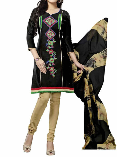 Cotton Suit From Kolkata In Black - FPKWA9AG214