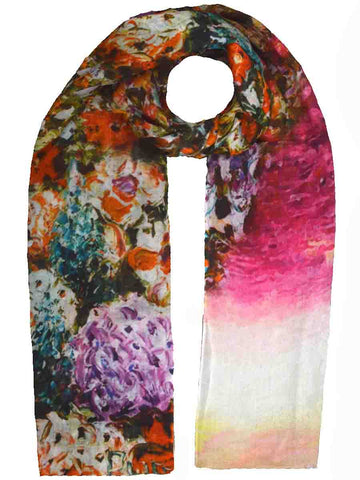Cashmere Stole In Multi Color-CJKS27O1