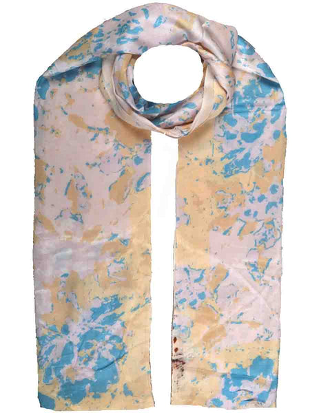 Cashmere Stole In Cream, Blue & Pink-CJKS27O24