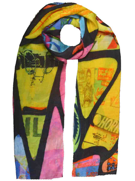 Cashmere Stole In Multi Color-CJKS27O36