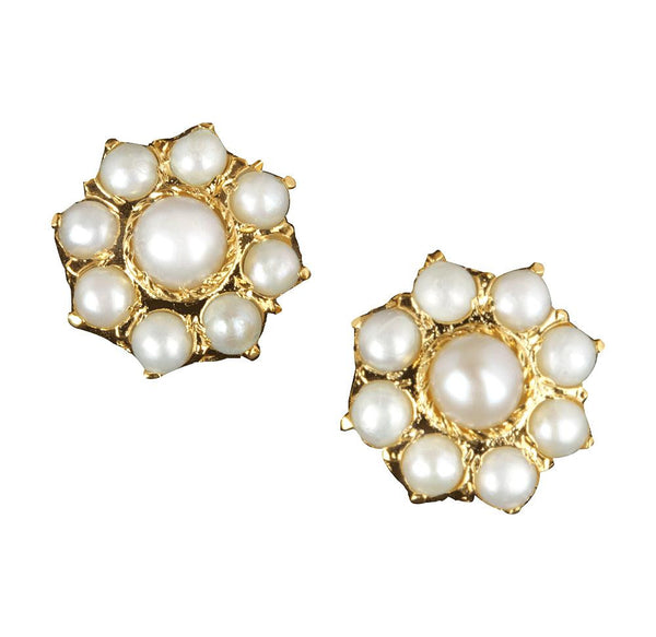Pearl Stud Earrings - CHTE25AG136