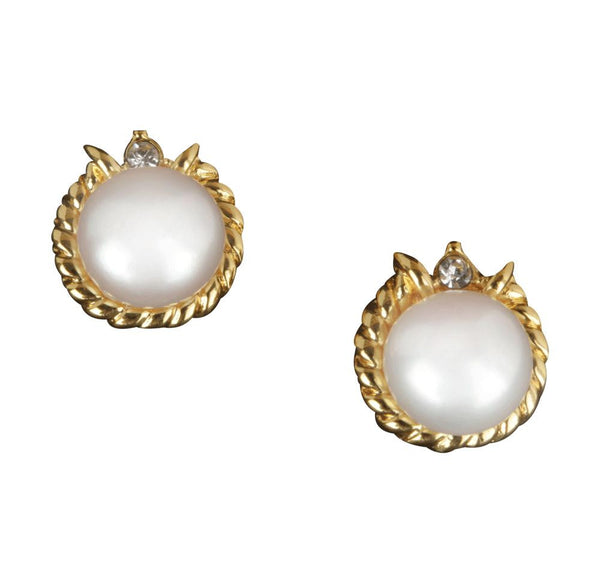 Pearl Stud Earrings - CHTE25AG143