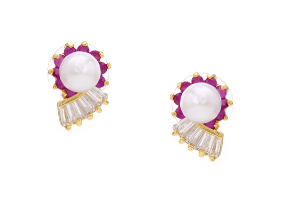 Pearl Stud Earrings - CHTE25AG245