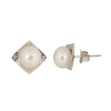 Pearl Stud Earrings - CHTE25AG287