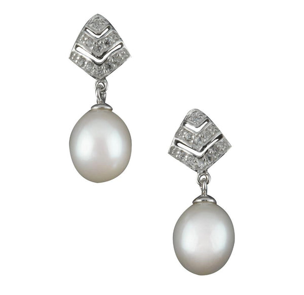 Pearl Hanging Earrings - CHTE25AG131