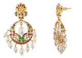Pearl Chand Bali Earrings in White - CHTE25AG103