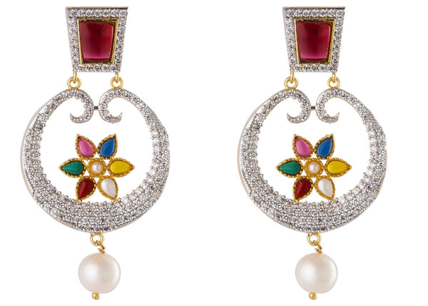 Pearl Chand Baali Earrings - CHTE25AG170