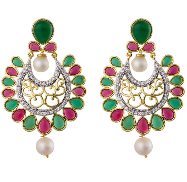 Pearl Chand Bali Earrings in White - CHTE25AG102