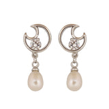 Pearl Stud Earrings - CHTE25AG240