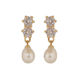 Pearl Stud Earrings - CHTE25AG232