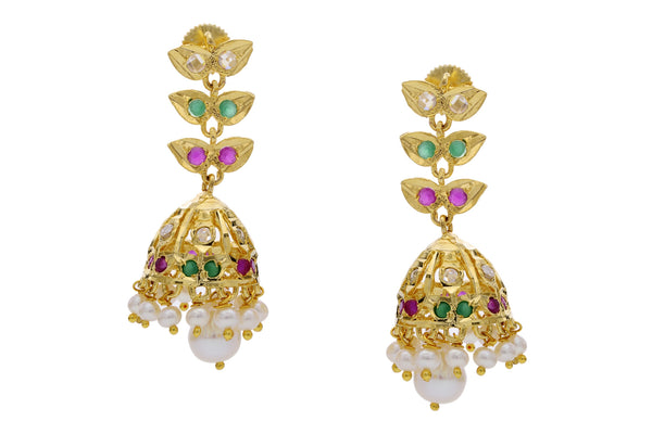 Pearl Jhumkha Earrings - CHTE25AG267